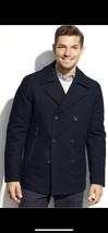 Michael Kors Black Derby Button Up Wool Blend Coat Men's Size Large NWT ... - $84.06