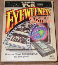 EYEWITNESS NEWSREEL CHALLENGE GAME BETA VCR 1985  - $15.00