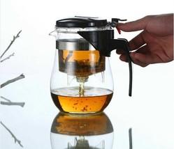 Heat Resistant Glass Tea Pot Infuser Clear Coffee Pot Teapot New Office ... - $18.69+