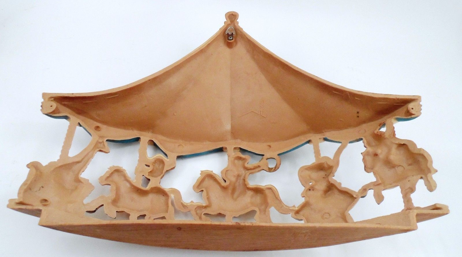 1979 Homco Universal Statuary Circus Animals Carousel Wall Hanging Brass Ring image 3