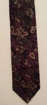 Wembley Men's Necktie 100% Imported Silk Abstract Flowers Purple Green W... - $9.41