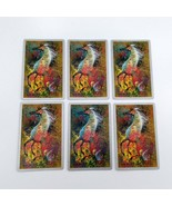 Set of 6 Abstract Art Horse Playing Cards for crafting collage repurpose... - $2.25