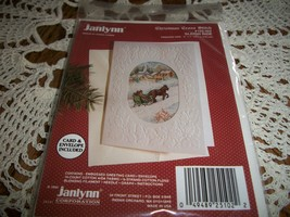 Janlynn Christmas Cross Stitch Kit 125-102~Sleigh Ride Greeting Card - $10.00