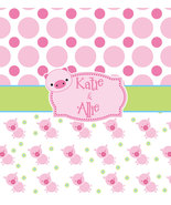 Cute Pig Theme Shower Curtains - Personalized Your Choice of Colors - $78.00
