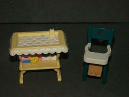 Fisher Price Loving Family Dollhouse: Baby Diaper Changing Table + High ... - $13.00