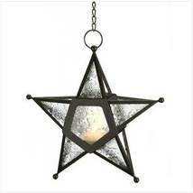 Clear Glass Star Lantern - $21.90