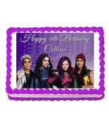 Disney Descendants party edible cake image cake topper frosting sheet de... - $7.80