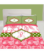 Personalized Custom Duvet with your Name or Initials -  Lily P Inspired ... - $264.00