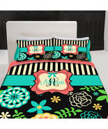 Custom Personalized Summer Romance Floral Duvet - Full Queen Size Listing - $264.00