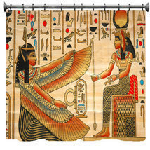 Egyptian Theme Designer Style Shower Curtain - CUSTOM - $78.00