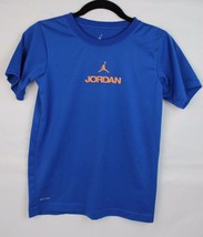 Jordan youth kids top t-shirt short sleeve blue size M - $7.99