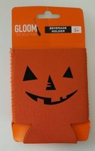 Orange Beverage Holder Gloom Halloween Beer Koozie Pumpkin Jack o Lanter... - $9.89
