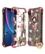For APPLE iPhone XR Paris Bloom Diamante TUFF Klarity Lux Candy Skin Cov... - $11.07