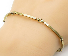 NE FROM DENMARK 925 Silver - Vintage Petite Curved Link Chain Bracelet -... - $42.26