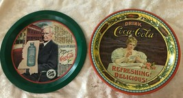 Lot of 2 Coca-Cola Commemorative Tray 85th Anniversary & 75 Anniversary - $15.83