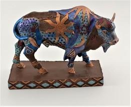 Hand Painted Buffalo Figurine image 1