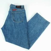Hugo Boss Blue Denim Jeans W 33 L 32 (Act W 32 L 30) Red Label Button Fl... - $79.99