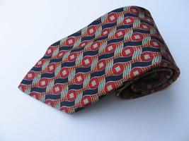Zegna Ermenegildo Pure Silk Tie Multicolor Red Black Italy Disegno Esclusivo - $72.55