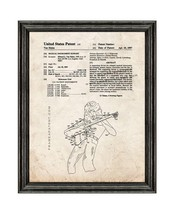 Van Halen Musical Instrument Support Patent Print Old Look with Black Wo... - $24.95+