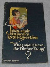 Sixty Eight answers to the Question, Recipe Cook Book - $5.00