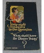 Sixty Eight answers to the Question, Recipe Cook Book - $4.00