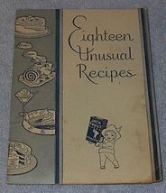 Eighteen Unusual Recipes, Baking Cook Book Jack Frost Sugar - $5.00