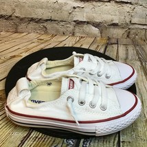 Converse All Star Kids White Short Lace Shoreline Low Sneakers Size 11 T... - $32.48