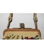 vintage Jolles originals floral needlepoint frame handbag - $49.99