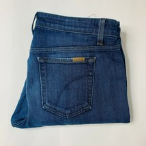 Joes Jeans Womens Size 31 Straight Stretch Rip in Knee High Rise - $18.49