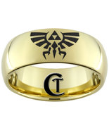 9mm Gold Tungsten Carbide Legend of Zelda Skywa... - $49.00
