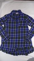 Girls Plaid 10/12 shirt - $7.50