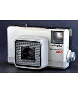 Minolta Autopak 500 Auto Focus 126 Camera w 38mm f2.8 Lens Rare White Co... - $28.00