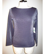 Calvin Klein Slinky Glitter Top Size L NWT - $22.00