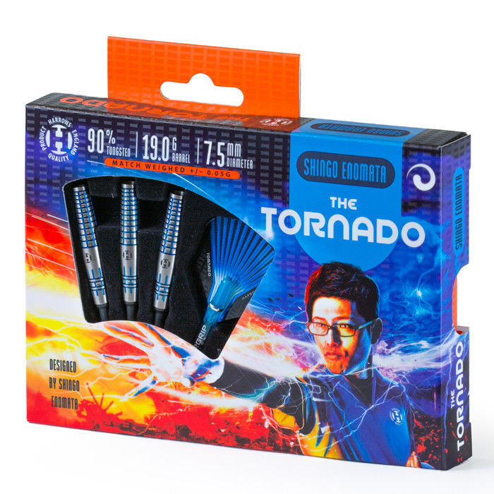 Harrows Tornado Shingo Enomata 90% Tungsten 19 gram 2ba Soft Tip Darts