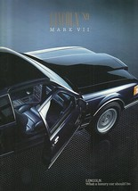 1989 Lincoln MARK VII sales brochure catalog US 89 MK7 LSC Bill Blass - $10.00