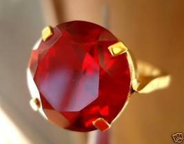 UNIQUE BLOOD RED COLOR BIG ROUND GARNET RING sld - $0.00