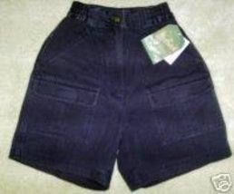 Woolrich Shorts Sz 4-Outdoorwear Blue Cotton Cargo-NWT - $17.42