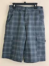 Old Navy Gray plaid  Boys Shorts size 14 Adjustable Waist band  - $11.88