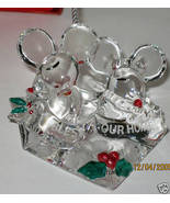 NIB LENOX BLESS THIS OUR HOME MOUSE CHRISTMAS O... - $19.30