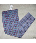 NWT NAPA VALLEY LADIES PANTS PULLON BLUE/PINK P... - $23.06