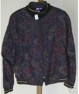 NWT TAIL JACKET dark multi color floral gold tr... - $48.50
