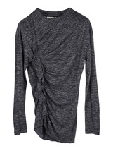 Isabel Marant Etoile grey Malo long sleeve side ruffle top - $118.00