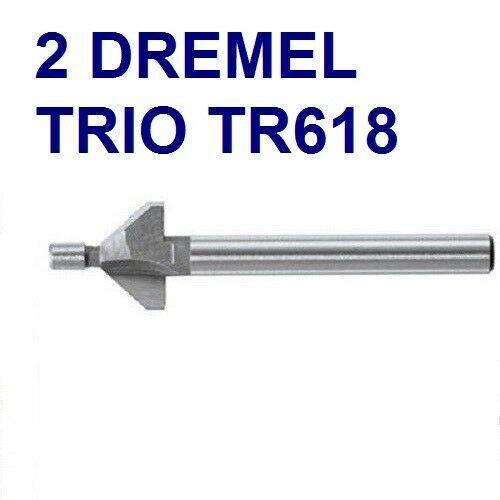 2 NEW DREMEL TRIO TR618 CHAMFER ROUTER BIT - $14.99