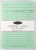 """Designworks Ink 2 Cloth Bound Personal 4"""" x 6"""" Mint/Blush Lined Journal Notebook image 2"""