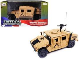 Auto World Tan Hmmwv Humvee Military 1:18 Scale Die Cast Car - $36.32