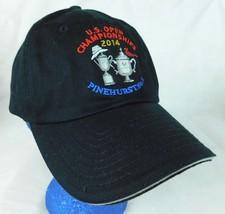 USGA US Open Championships 2014 Pinehurst Black Baseball Cap Hat Box Shipped - $9.99