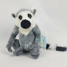 "Ganz Webkinz Ring Tailed Lemur 8"" Plush Gray Stuffed Animal Toy SEALED CODE - $14.50"