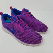 Nike Womens Roshe 1 Flyknit Running Shoes Purple 704927-501 Low Top Marl... - $44.99
