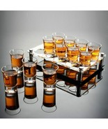 LOULONG® Liquor Spirits Shot Glass Set With Holder Shelf B52 Bomber Rainbow - $55.03+