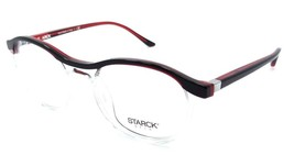 Starck Eyes Mikli Rx Eyeglasses Frames SH3036 0003 50x19 Red Black / Cry... - $105.06